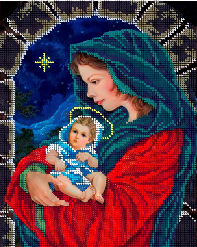 Схема для вишивки та вишивання бісером Бисерок ікона «Вечірня молитва» (A4) 20x25 (ЧВ-3103(10))