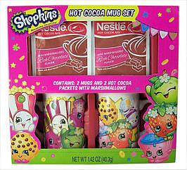 П, Набор Shopkins из 2 керамических чашек и 2 пакетов какао-смеси Nestle