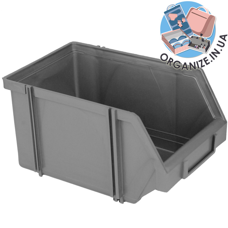 Составной органайзер-контейнер для инструментов 230х150х125 мм (металлик)