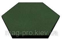 Шестиугольная резиновая плитка Eco Form, 470*470*25 мм, фото 2