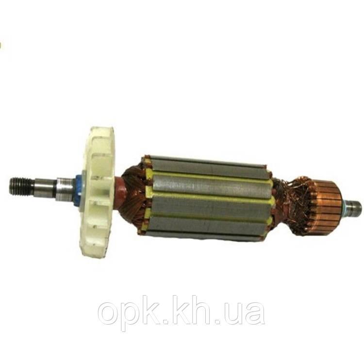 Якорь тст-н болгарки DWT WS-125 L/LV (35*162 мм, хвостовик - шпонка+резьба 8 мм)