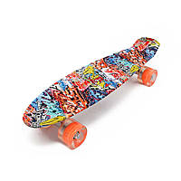 Penny Board Abstraction со светящимися колесами