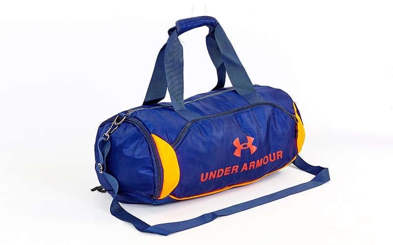 Спортивная сумка-бочонок в стиле  UNDER ARMOUR  GA-022 с отделением для обуви цвет синий