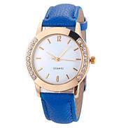 Красивые наручные часы синего цвета для девушек (ч-24)