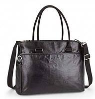 Стильная двуручная женская сумка на молнии Kipling Lacquer Night, материал - текстиль,  черная, K14161_H31