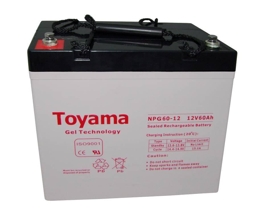 Аккумулятор GEL - 60 Ач, 12В гелевый TOYAMA NPG 60-12