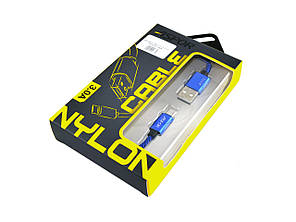 USB кабель Aspor A173 micro USB Nylon Cable, фото 2