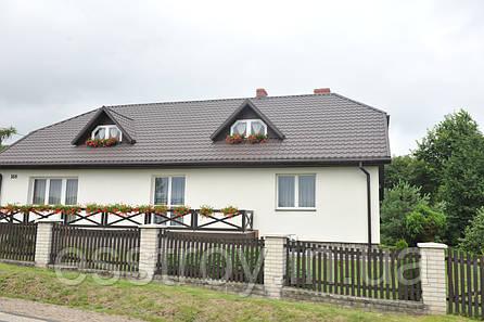 Металлочерепица  КРОН 350/400 Матовый 0,5 Польша, Германия, фото 2