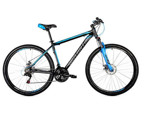 """Горный велосипед AVANTI SMART 27,5"""" 19""""  Черный/Синий мат."""