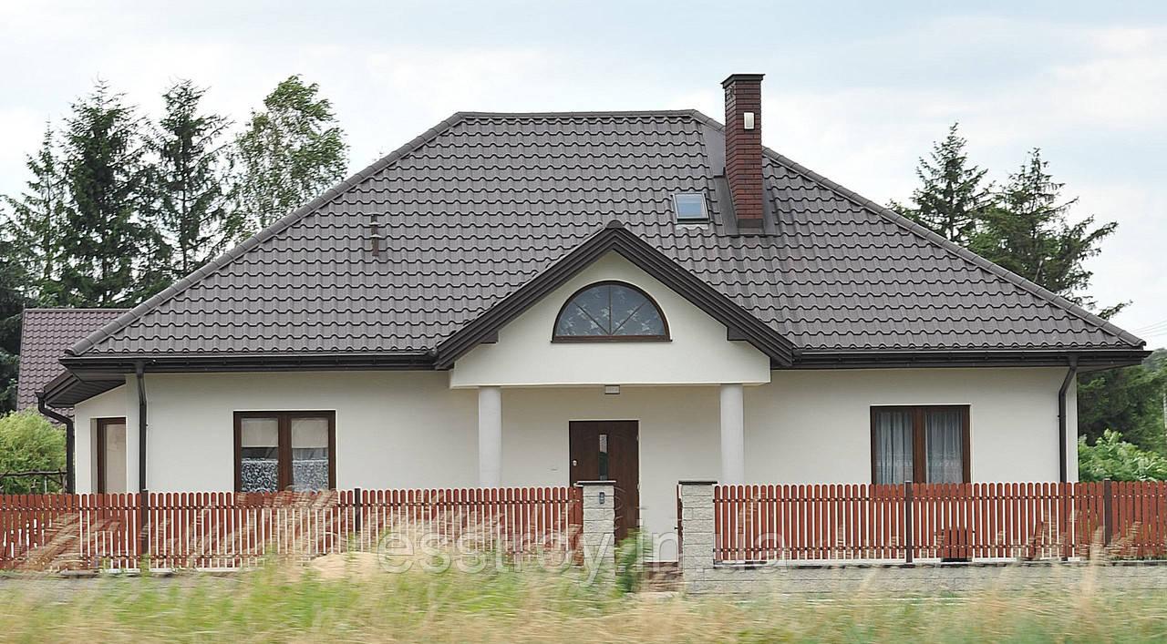 Металлочерепица  КРОН 350/400 глянец 0,5 Польша, Германия
