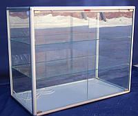 Торговый прилавок стеклянный с алюминиевого профиля 100х50х80 бу