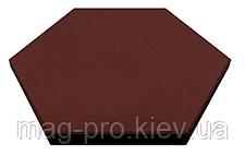 Шестиугольная резиновая плитка Eco Form, 470*470*25 мм, фото 3