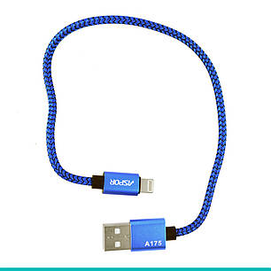 USB кабель Aspor A175 IPhone5 Nylon Cable, фото 2