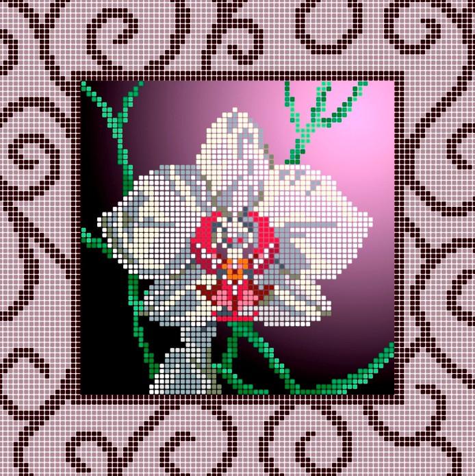 Схема для вишивки та вишивання бісером Бисерок «Орхідея (ЧВ-3158» (A4) 20x25 (ЧВ-3158(10))