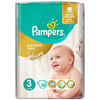 Подгузник Pampers Premium Care Midi (5-9 кг), 20шт (4015400687818)