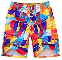 Пляжные яркие летние шорты