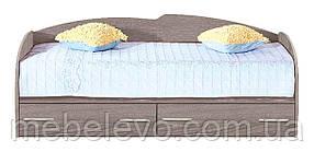 Кровать односпальная с ящиками  К-117 750х970х2050мм    Комфорт