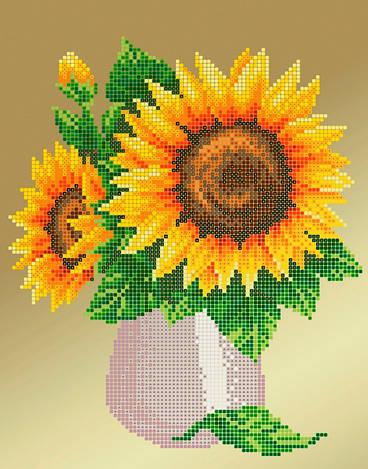 Схема для вишивки та вишивання бісером Бисерок «Соняшник» (A4) 20x25 (ЧВ-3182(10))