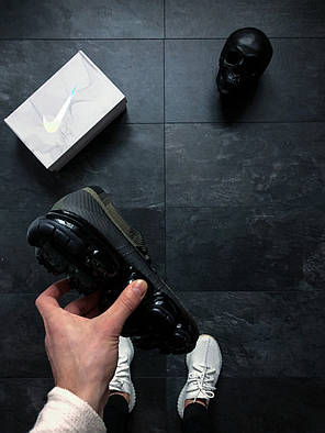 Мужские кроссовки Nike Air Vapormax Flyknit Cargo Khaki топ реплика, фото 2