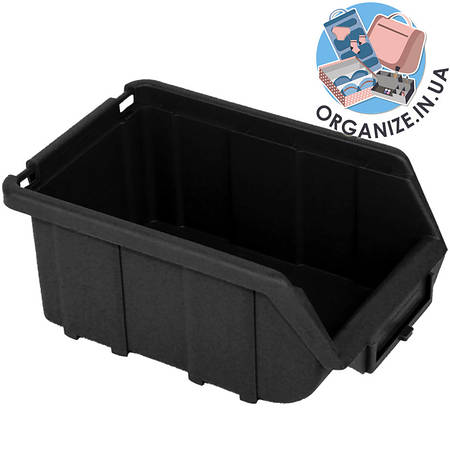 Составной органайзер-контейнер для инструментов 170х110х70мм облегченный (черный)