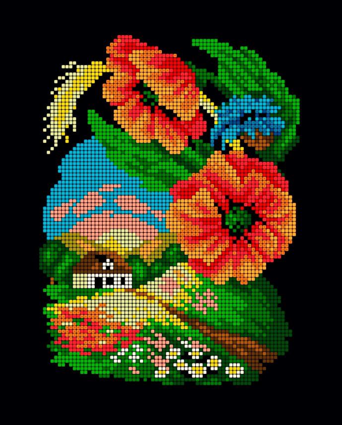 Схема для вишивки та вишивання бісером Бисерок «Шматочок літа» (A4) 20x25 (ЧВ-3178(10))