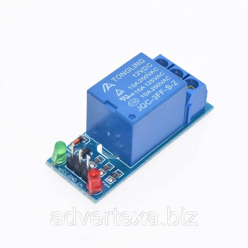 Модуль реле 12 вольт 1 канал низкий уровень