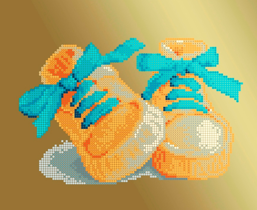 Схема для вишивки та вишивання бісером Бисерок «Черевички голубі» (A4) 20x25 (ЧВ-3177-Г(10))