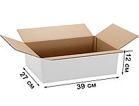 Коробки самосборные 390х270х120 белая. Мин. тираж -100шт