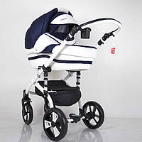 Детская коляска 2 в 1 Macan, White-Blue