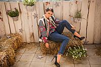 Модная женская жилетка теплая №2 из дубляжа с мехом мутон искусственный., фото 1