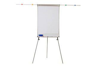 Фліпчарт Standart Plus 70х100 см магнітно-маркерный з регульованим тримачем для паперу і планками