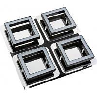 Світильник потолочний декор. 250x250mm SMD LED 4*5W 4000K  хром 4x300lm 220-240v