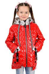 Демисезонная курточка для девочки яркая
