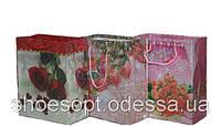 Подарочные пакеты Розы 15х12х6 см микс
