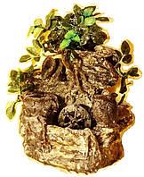 Фонтан настольный подвесной декоративный Пейзаж деревья с горшочками подсветка МЕЛЬНИЦА  35=35=16