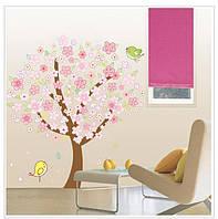 Красивая наклейка на стену Цветущее дерево