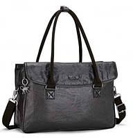 "Двуручная женская сумка на молнии Kipling Lacquer Night из текстиля, отдел для ноутбука 13"", черная K20929_H31"