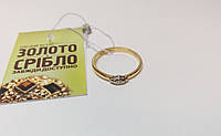 Золотое колечко с бриллиантом. Размер 17. Вес 2,1 грамм. Б/У.
