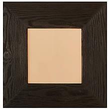 Картина с широкой рамкой с натурального дерева и бежевой керамической плиткой для сублимации