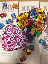 Жвачки Love is в коробочке сердечко, 45 шт стандарт (коробочка металл), фото 3