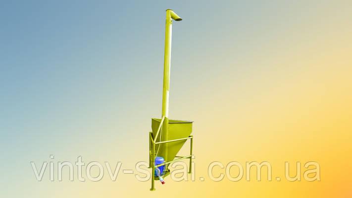 Вертикальный шнековый погрузчик 108 х 2000 мм.