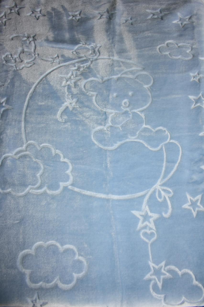 Турецкий пледик - одеялко для детей  Golden spring (голубой)
