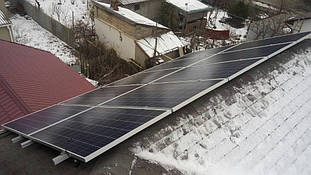 поликристаллические солнечные батареи на крыше