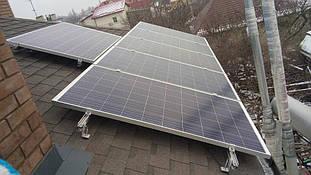 установка солнечных панелей на крыше - второе поле