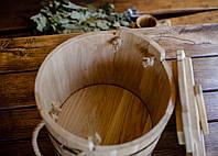 Запарник дубовый с крышкой 15л SU, Saunapro