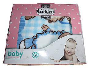 Турецкий пледик - одеялко для детей  Golden spring (голубой с овечками), фото 2