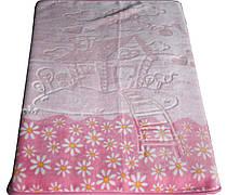 """Турецкий пледик - одеялко для детей  """"Golden spring"""" (розовый с ромашками)"""