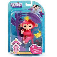 Интерактивная игрушка обезьянка Fingerlings Monkey на палец, фото 1