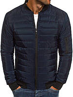 Мужская весенняя куртка/ветровка/бомбер, синяя