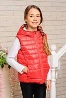 Двусторонняя демисезонная жилетка весна-осень для девочки 32, 34, 36, 38 размер.Детская верхняя одежда!
